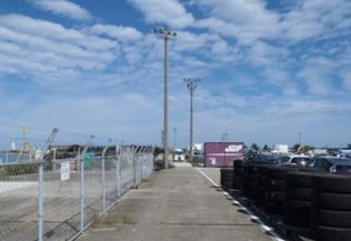 10号岸壁オイルフェンス電力引込線復旧修繕