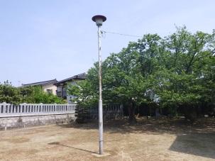 犬島町内会 犬島公園照明修繕
