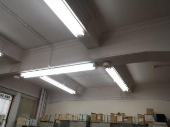 本館2階厚生企画課照明器具修繕