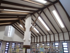 四方地区センター 図書室照明器具修繕