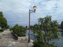 岩瀬運河緑地照明灯修繕