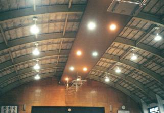 水橋中学校体育館照明整備