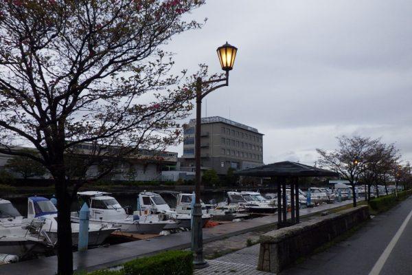 岩瀬運河外照明灯修繕