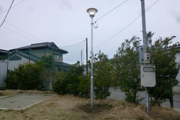 市内公園照明灯設置